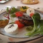 ジョルジュ マルソー - 前菜 感動したフォアグラもメインにお野菜&モッツァレラ