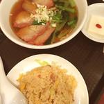 中華ダイニング 唐庄酒家 - チャーシュー麺 半チャーハン セット 950円