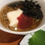 そばキッチンとき - ☆温かいお蕎麦…梅とろろ(●^o^●)☆