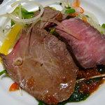 酸ヶ湯温泉旅館 - 牛肉たたき
