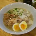 めんや 正明 - 海老ワンタン麺 鶏そば 塩(\950)
