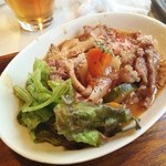 おやさいバル TIERRA - 牛肉とお野菜の赤ワイントマト煮込みUP(日替わりランチ)♪
