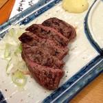 四文屋 - 牛ステーキ(380円)