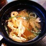 串八丁 - 串八丁 @八丁堀 揚げと若布の味噌汁