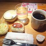 やば珈琲 - ブレンドコーヒーと選べるモーニングのおすすめセット
