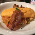 イタリアンキッチン 86 - ハルオムリゾ、自家製パンチェッタとトマトオムリゾの組み合わせです