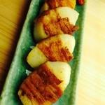 山芋の豚肉巻き焼き