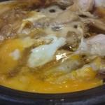 40412304 - 鶏の陶板すき焼き風