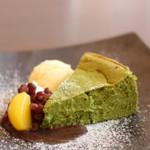 MAIKO茶ブティック - 抹茶チーズケーキ