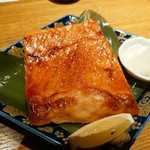 燦 - 鮭のハラミ焼き-すごい厚み、そして脂のってますー