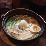 ひさし鍋焼ラーメン - 鍋焼らうめん850円