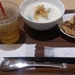 粥茶館 糖朝 - ・粥茶館粥セット 1100円(税抜)
