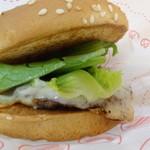 ドムドムハンバーガー - トリュフソースバーガー単品420円