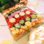 40421413 - 夏野菜のテリーヌ