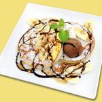 ★おすすめ★もちもち小麦のチョコバナナパンケーキ