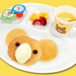 もちもち小麦のスイーツ&カフェ 魔法庵 - おこさまコアラパンケーキプレート