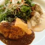 クレイトンハウス - チーズハンバーグとチキン南蛮のセット
