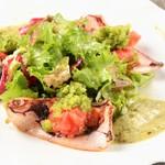 レストラン ビブ - ◆剣先イカのソテー サラダ仕立て 麗夏トマトときゅうりのソース