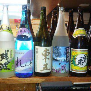 青森ならでは日本酒・そして焼酎も揃ってます
