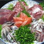 山口 かど家 - 料理写真:宴会用 お刺身の盛り合わせ \5000 ※仕入れにより内容が変わります。
