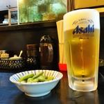 入船 - 生ビールに枝豆がサービス!