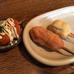 ピッコロラモ - 豚平焼風創作串、豚ロース、子持ち昆布のササミ巻き