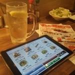 やきとり家すみれ - タッチパネルでの注文(^^;