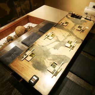 人数に合わせた豊富な個室が魅力
