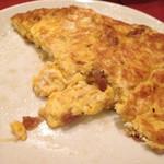 台南担仔麺 屋台料理 来来 - 切り干し大根入りの卵焼き