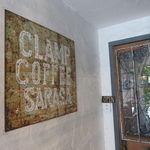 CLAMP COFFEE SARASA - かすれた白文字の味ありの看板