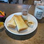CLAMP COFFEE SARASA - クランプ・モーニング:トースト、玉子、ヨーグルト、ピクルス、ジャム(ピーナッツ・バター&パパイヤ)&コーヒー3