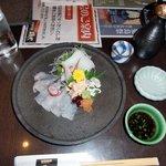 海鮮茶屋 磯や - ウマヅラハギ アオリイカ 刺身