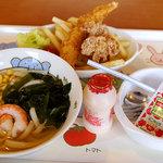 味の民芸 - どんきちくんのうどんセット@こえび 525円