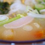 味の民芸 - コラーゲン豊富な特製白湯スープ♪