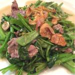 40454627 - 牛肉と空心菜炒め