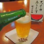 新宿 スカラ座 - ハイネケン。スイカと迷いました(笑)