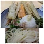 武膳 - *ごぼう天・人参の天ぷら・大根おろし・かつお・ネギなどがたっぷりのせられています。 天ぷらはカラッと揚がり美味しいですよ。