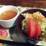 ソウル フード - セットのスープ&サラダ