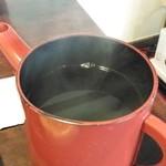 手打ちそばの まめひな - 蕎麦湯は釜湯でしょう