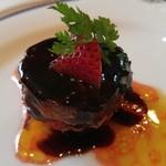 仏蘭西料理 N - 温菜 フレッシュフォアグラのポワレ 苺のタルトレット