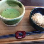 Cafe 禅 - 抹茶とあべかわ餅のセット