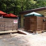成木カフェ - カフェ前の駐車場