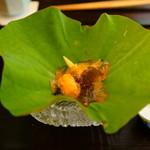 和の食 いがらし - 夏野菜のジュレ。お出汁が効いてて冷たくてツルツルっといただきました。