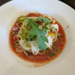 ベーカリーアンドテーブル - 夏野菜の冷製パスタ ガスパチョ仕立て