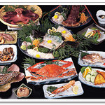 民宿 吉浜荘 - 料理写真:10,500円コース ※4名様以上の一例です。