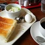 ベーカリー&コーヒー ヨーク - モーニングサービス(530円)