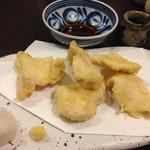 蕎麦切り 春のすけ - 若鶏の天ぷら650円