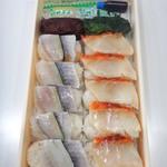 東華軒 - 炙り金目と小鯵押寿司