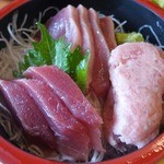 土浦魚市場 - 食べ放題のマグロ
