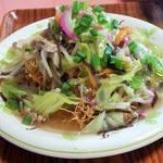 レストラン さくら - この店の一番人気。揚げ麺は長崎から取り寄せているらしく極細ぱりふわ。